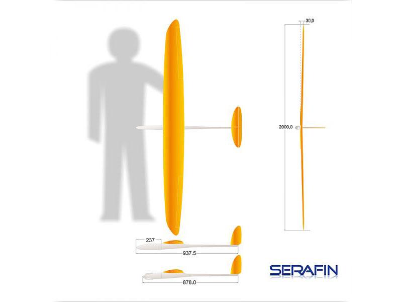 SERAFIN mit Kreuzleitwerk